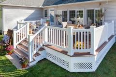 Abigail Lane   Beautiful white deck by The Decksperts   West Springfield, MA