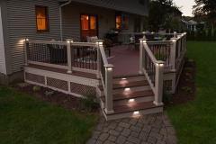 Apple Ridge   Custom deck with stair lighting by The Decksperts   Springfield MA