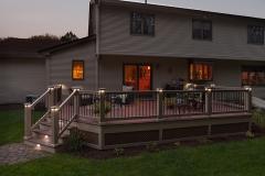 Apple Ridge   Outdoor deck lighting installd by The Decksperts   Springfield MA