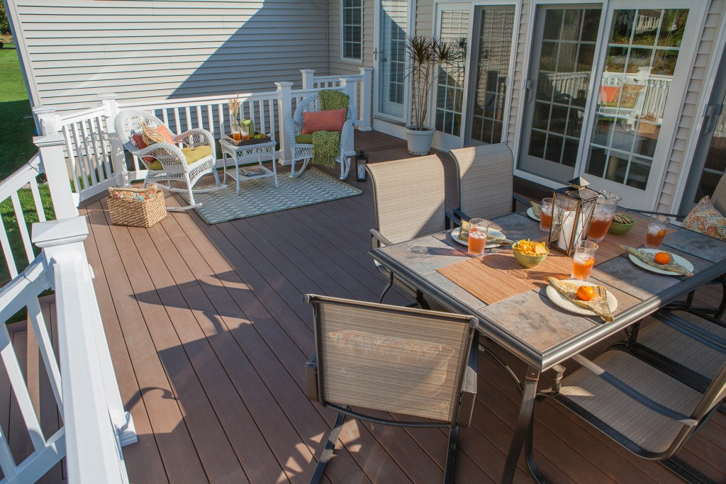 Custom deck and outdoor living space built by The Decksperts | Northern CT