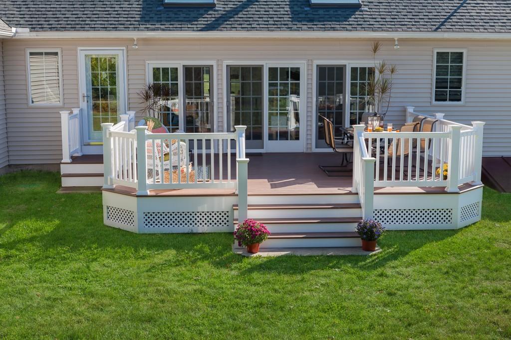 Custom outdoor living space built by The Decksperts | Springfield, MA