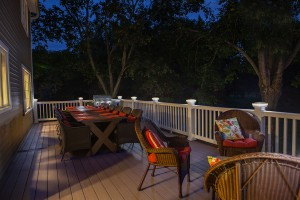 Outdoor deck lighting by The Decksperts | Serving Western MA, Springfield, MA, and West Springfield, MA