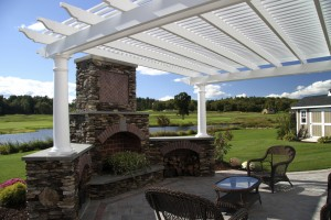 Custom outdoor living spaces and pergolas by The Decksperts | Serving Western MA, Springfield, MA, and West Springfield, MA